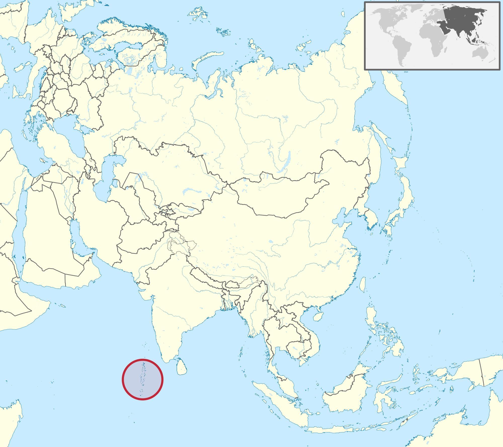 Carte Asie Maldives.Maldives Carte De L Asie Carte Des Maldives Carte De L Asie Asie