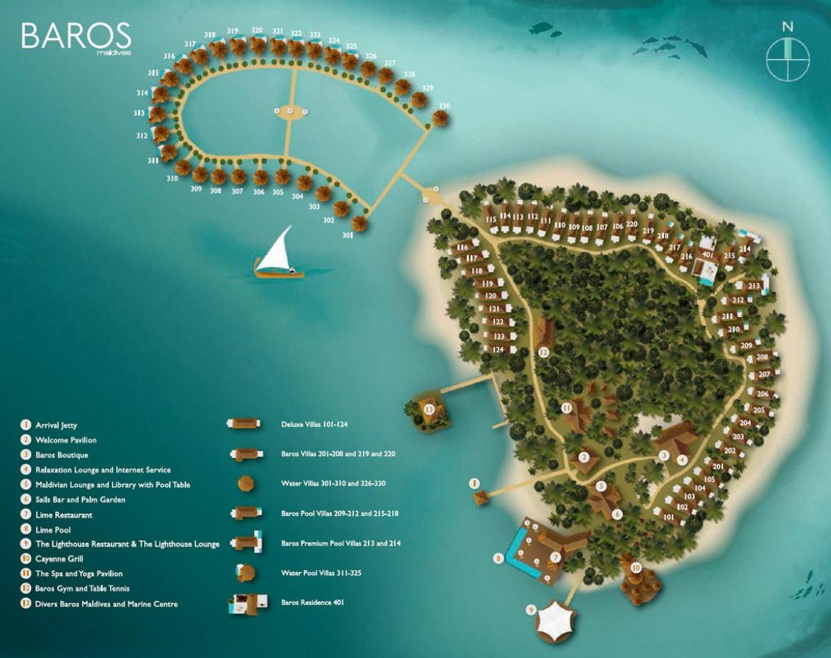 carte de baros maldives