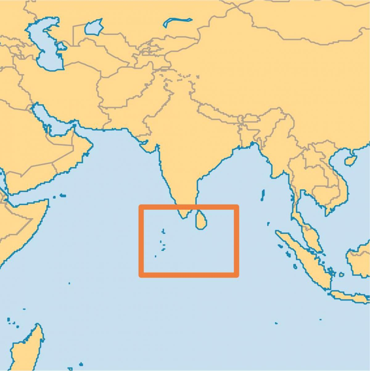 Maldives carte du monde