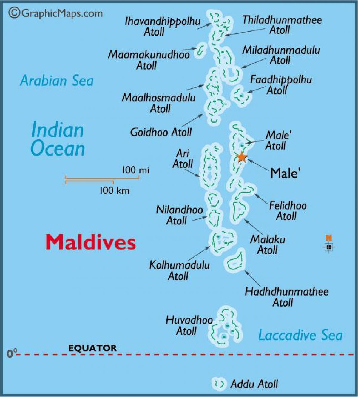 Carte Asie Maldives.Maldives Atoll Carte Baa Atoll Des Maldives A La Carte Asie Du
