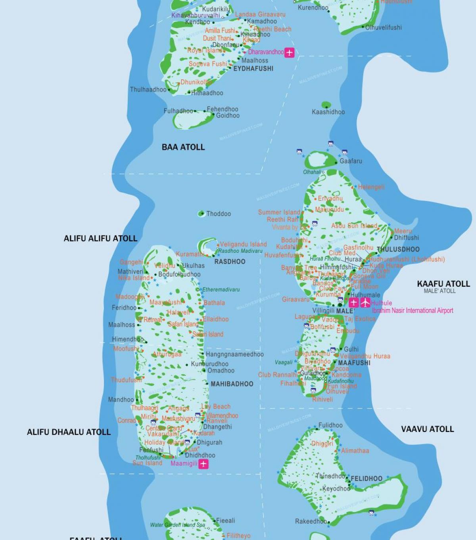 Carte Asie Maldives.Maldives Carte De L Aeroport Maldives Carte D Aeroports Asie Du