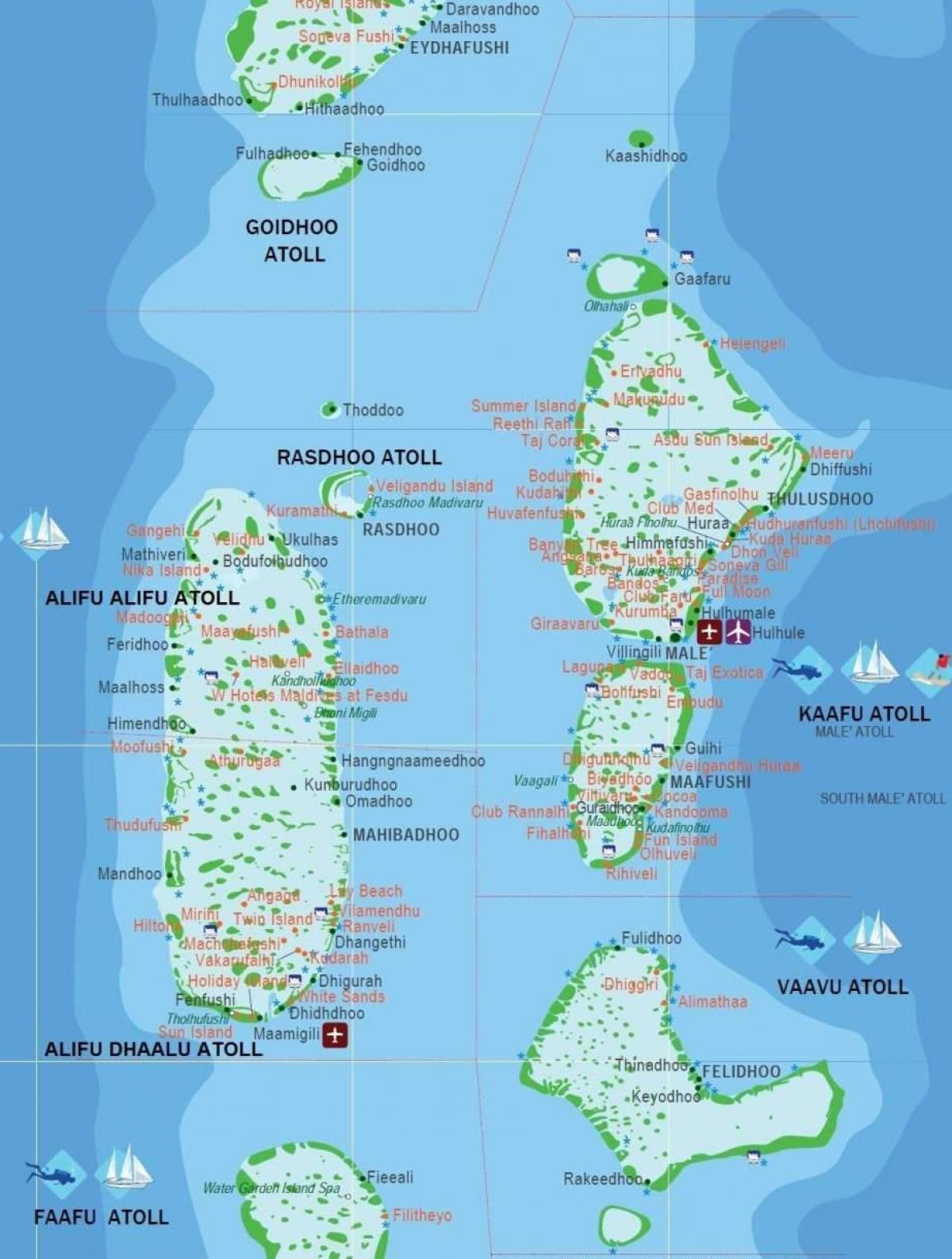 Carte Asie Maldives.Maldives Carte De La Ville Maldives Carte De Capital Asie Du Sud